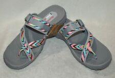 90a6f194f432 Skechers Women s Reggae Zig Swag Gray Multicolor Sandals - Sizes 7 8 8.5
