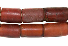 Cornaline d'Aleppo Venetian Trade Beads Cylinders African 25 Inch