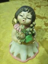 Thun angelo bouquet fiori beige-oro terracotta ceramica usato