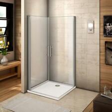 Schwingtür Duschtür ESG Nano-Glas Eckeinstieg Duschabtrennung Dusche Duschkabine