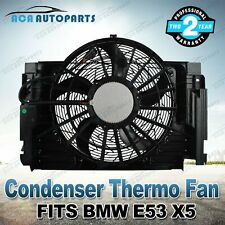 CONDENSER THERMO FAN MOTOR ASSEMBLY FOR BMW E53 X5 3.0d 4.4i 4.8i Diesel