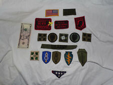Lot of 16 US U.S. Army Military Uniform Patches Vietnam Special Forces POW/MIA