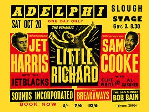 Fifties - Sam Cooke, Little Richard, Adelphi Concert Handbill reprint (1962)