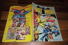 BATMAN Superband  # 3 -- BATMAN UNTER MORDVERDACHT // mit Poster von 1980