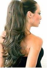 Dark mix Medium Brown HAIR PIECE Ponytail Extension