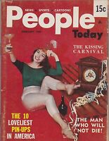 Vintage cheesecake -  pinup digest magazine #202 - FEB 1960  PEOPLE TODAY