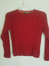 Liz Claiborne Red Cable knit Long sleeve Sweater  Size MP