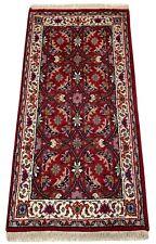 Rot Teppich Wolle Fußmatten Handgeknüpft 100% Schurwolle 70X140 cm D16