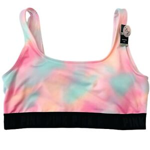Victorias Secret PINK Ultimate Sports Lightly Lined GYM TO SWIM Bra Tie Dye  L