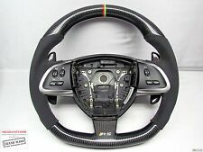 Jaguar XKR-S GT Flat Bottom Alcantara Thicker SMALL Custom CARBON Steering WHEEL
