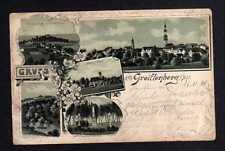 107691 AK  Greiffenberg Schlesien 1898 Litho Burg Ruine Greiffenstein Evang. Kir