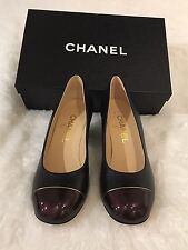 Chanel Black & Burgundy Pumps 35.5 $800