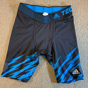ADIDAS TECH FIT CLIMACOOL TIGHTS MENS LARGE RUGBY UNDER SHORTS FOOTBALL RUNNING