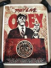 Shepard Fairey Obey They Live Variant Poster Mondo Roddy Piper John Carpenter