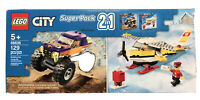 NEW Lego City 66636 Super Pack 2 In1 Mail Plane & Monster Truck Building Toy Set