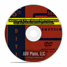Mallory's Tube Radio Encyclopedia, 1st, 4th, 6th, Radio Repair Parts DVD CD E31