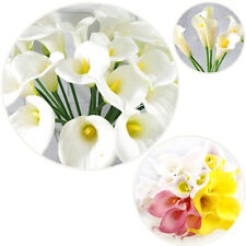 5Pcs Pack Calla Lily Bridal Wedding Bouquet Latex Real Touch Artificial Flower