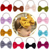 Nylon Soft Bow Head Wrap Turban Top Knot Headband Newborn Baby Girl Accessories