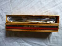 Vintage Chromium Plated Nickel & Silver Table Cutlery Forks set of 6