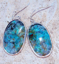 Beautiful Chrysocolla & 925 Sterling Silver Earrings by Silver Trend