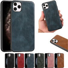 Solid Soft PU Leather Phone Case Cover For iPhone 11 12 Pro Max 7 8 Plus XS MAX