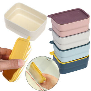 Waterproof with Cleaning Brush Travels Soapbox Soap Case Soap Dish Storage Box
