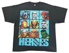 Vintage Marvel Heroes Mad Engine Tee Black Size XL Mens T Shirt