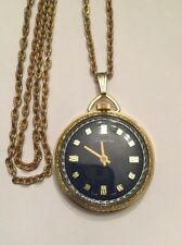 Swiss Made Gold Tone Vintage Lucerne Pendant Watch