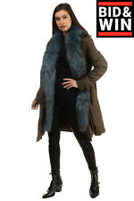 Rrp €290 Liu Jo Trench Coat Size 38 / Xs Padded Detachable Contrast Trim Belted