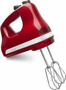 BRAND NEW IN BOX  KitchenAid® KHM512 5-Speed Ultra Power Hand Mixer (Empire Red)