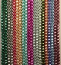 Lot of 20 Strands 1100 pcs Glass Pearls 8mm Smooth Round Beads Mixed Colors Bulk