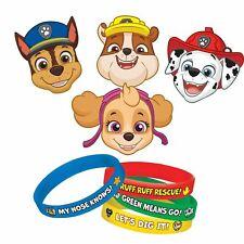 Paw Patrol Kids Birthday Party Favours Fillers Masks Rubber Bracelets Bangles