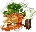 "Leprechaun Pot Of Gold Irish Beer Ale Pub Car Bumper Vinyl Sticker Decal 4.6"""