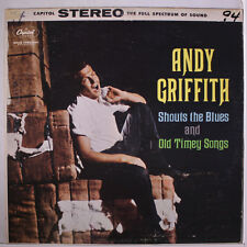 ANDY GRIFFITH: Shouts The Blues And Old Timey Songs LP (wol, woc, 2 tags on cov