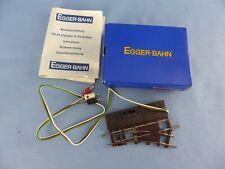 EGGER-BAHN aiguillage droit électrique + boite état neuf échelle HOe