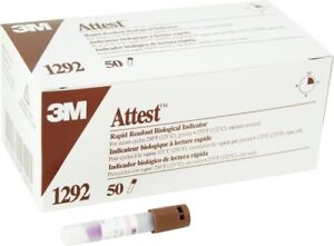 3M 1292 (box of 50) Attest Rapid Readout Biological Indicator 2021-9 exp