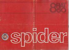 FIAT 850 SPIDER Original 1964 Factory Dutch sales brochure