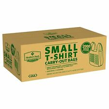 Grocery Convenience Store Take Out Plastic Thank You Small T-Shirt Bag 2000 ct.