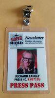 X-files TV Series ID Badge-The Lone Gunman Richard Langley costume prop cosplay