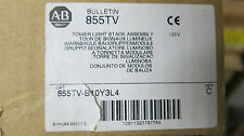Allen Bradley 855TV-B10Y3L4, Tower Light Stack Assembly NEW