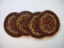 "Homespice Decor GRACELAND Braided Jute 4"" Coasters Set of 4"