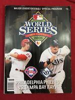2008 Official World Series Baseball Program Phillies vs Tampa Bay Rays