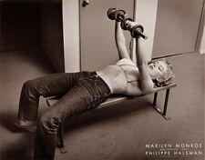 Marilyn Monroe PUMPING IRON Weightlifting (Halsman Hollywood 1952) POSTER Print