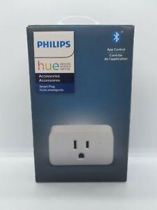 Philips Hue Smart Plug for Hue Smart Lights Bluetooth &Hue Hub Compatible Outlet