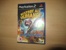 DESTROY ALL HUMANS - NEW,SEALED PS2 pal version