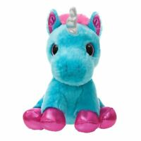 "Sparkle Tales Moonbeam Turquoise Unicorn Super Soft Plush Toy - 7"" Aurora World"
