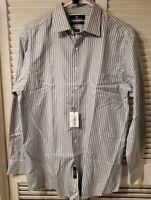 Hart Schaffner Marx Long Sleeve Shirt 100% Cotton Size 16 1/2 black n white