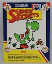 Pepsi Super Secrets Nintendo Tip Card Mario Brothers Yoshi MINT