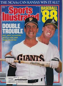 Mark McGwire Oakland A's Will Clark SF Giants Sports Illustrated April 4, 1988