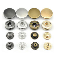 10 Sets Metal Snap Fastener Buttons Craft DIY Accessories Clothing Sewing Tool